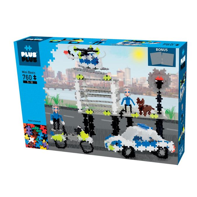 Jeu de construction Mini Basic - Coffret Police - 760 pcs