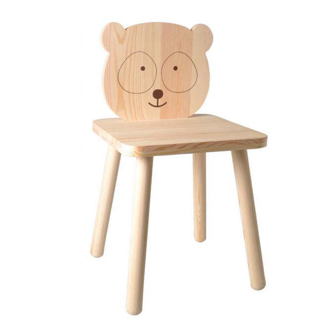 Chaise en bois pour enfant Panda adorable 29 x 29 x 53 cm