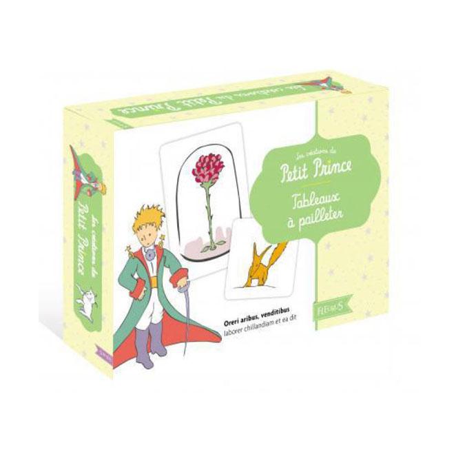Coffret atelier Tableaux à pailleter le Petit Prince
