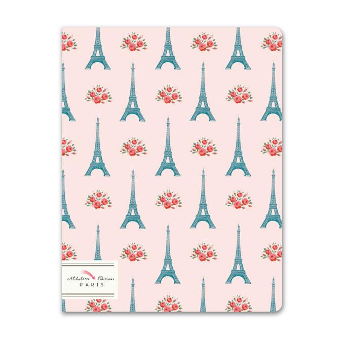 Carnet ligné 17 x 22 cm Mademoiselle Eiffel