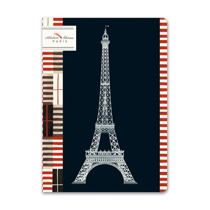 Carnet ligné 15 x 21 cm Eiffel Art déco