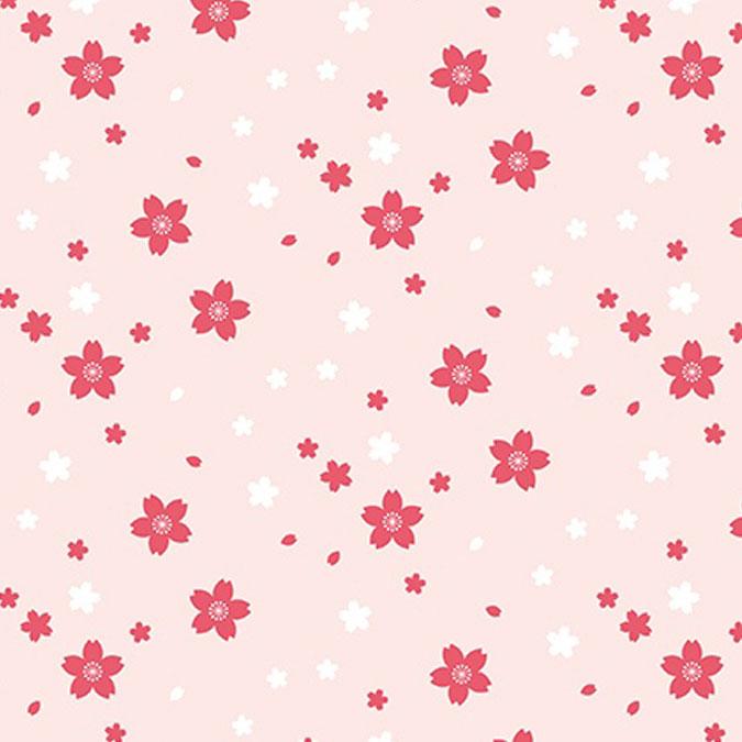 Tissu 50 x 140 cm Petites fleurs rose