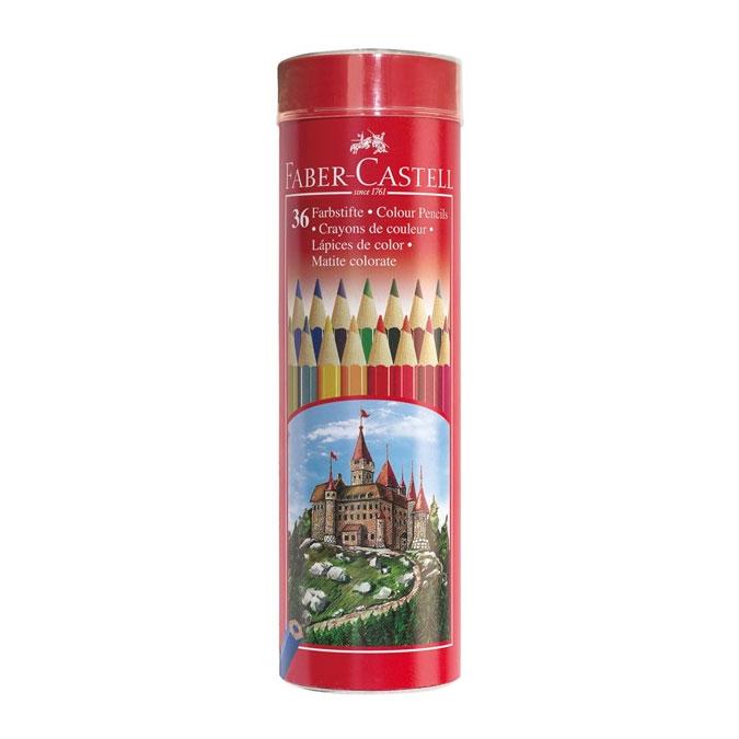 Crayon de couleur Tube métal Château 36 pcs