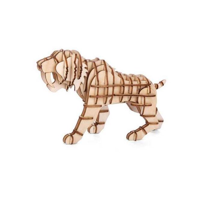 Puzzle 3D en bois Tigre