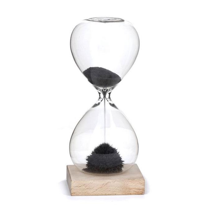 Sablier en verre 1 minute poudre magnétique
