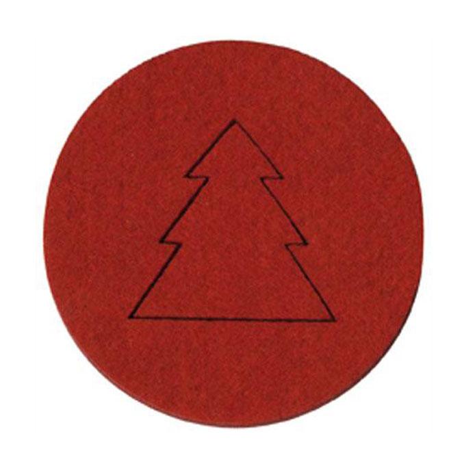 Déco Noël Sapins en feutrine Rouge x 4 pcs