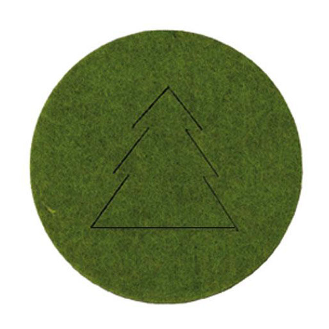 Déco Noël Sapins en feutrine Vert x 4 pcs