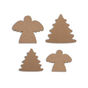 Anges et Sapin en bois medium