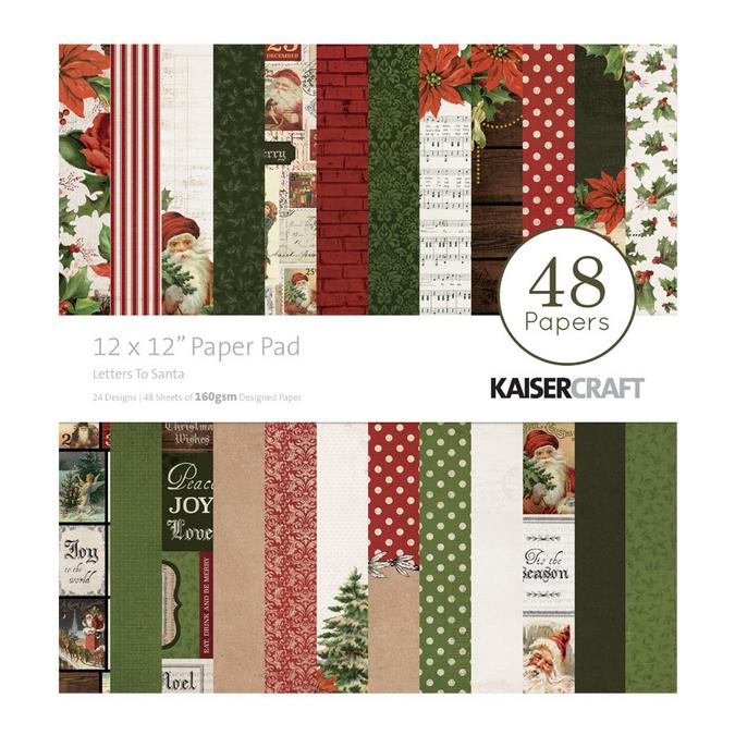 Papiers assortis Letters to Santa 30 x 30 cm