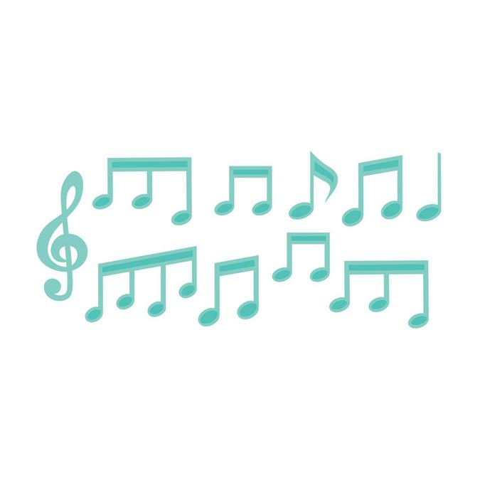Matrice de coupe Decorative Die Notes de musique x 10 pcs
