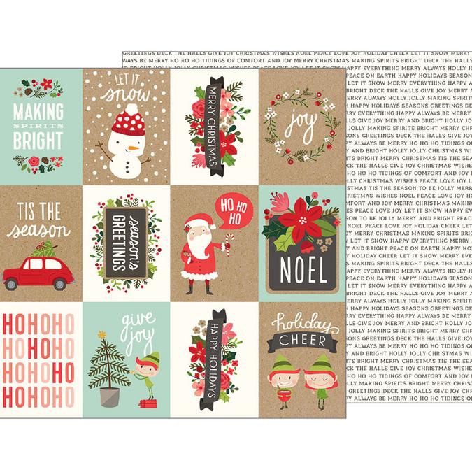 Papier Merry Merry Ho Ho Ho 30 x 30 cm