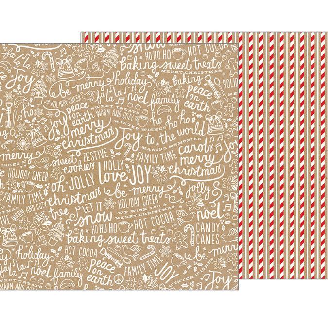Papier Merry Merry Candy Stripes 30 x 30 cm