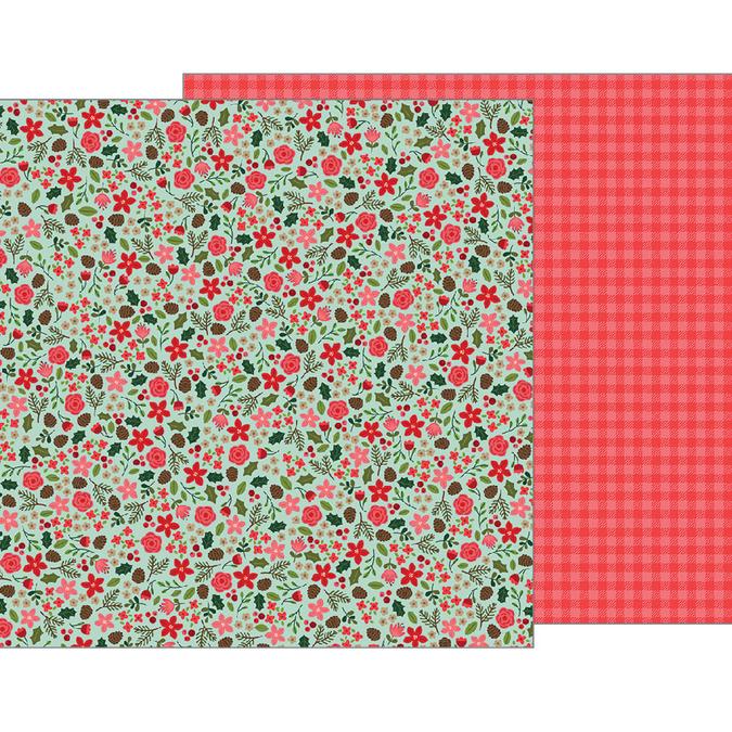 Papier Merry Merry Christmas Floral 30 x 30 cm