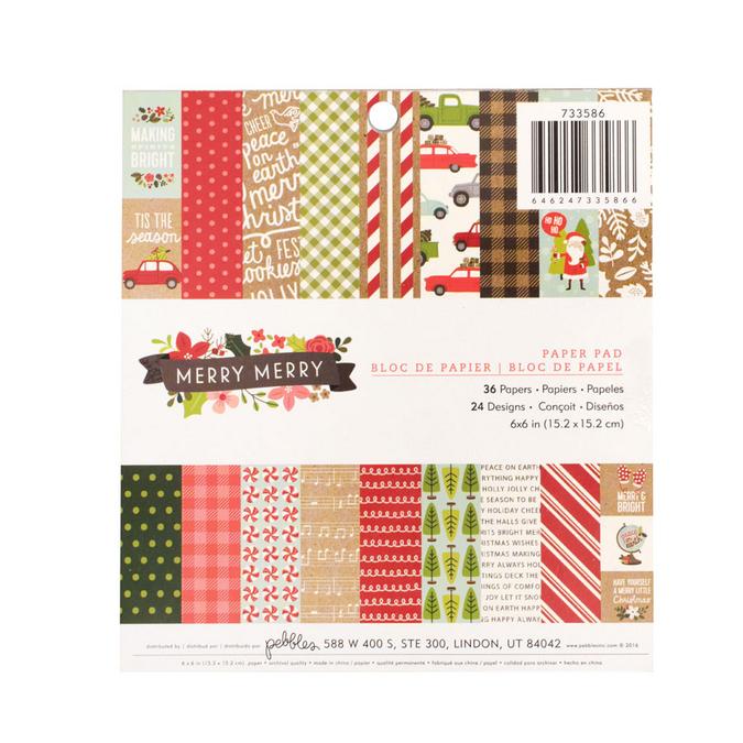 Papiers assortis Merry Merry 15 x 15 cm