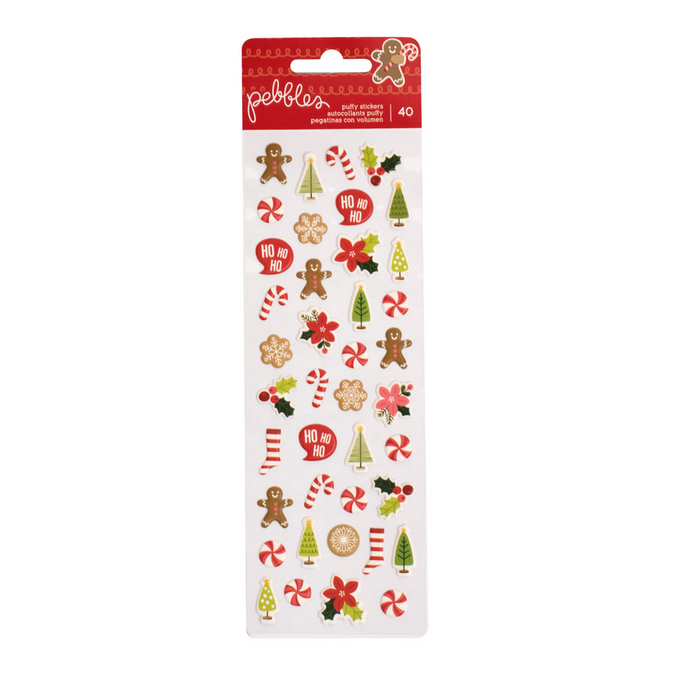 Puffy Stickers Merry Merry x 40 pcs