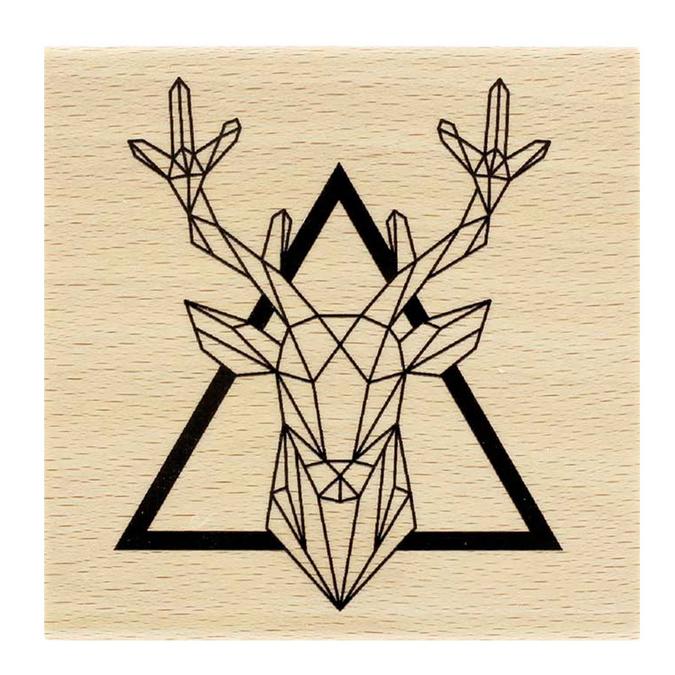 Tampon en bois Roi de la forêt 8 x 8 cm