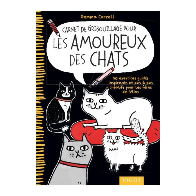 Livre Carnet de gribouillage pour les amoureux des chats