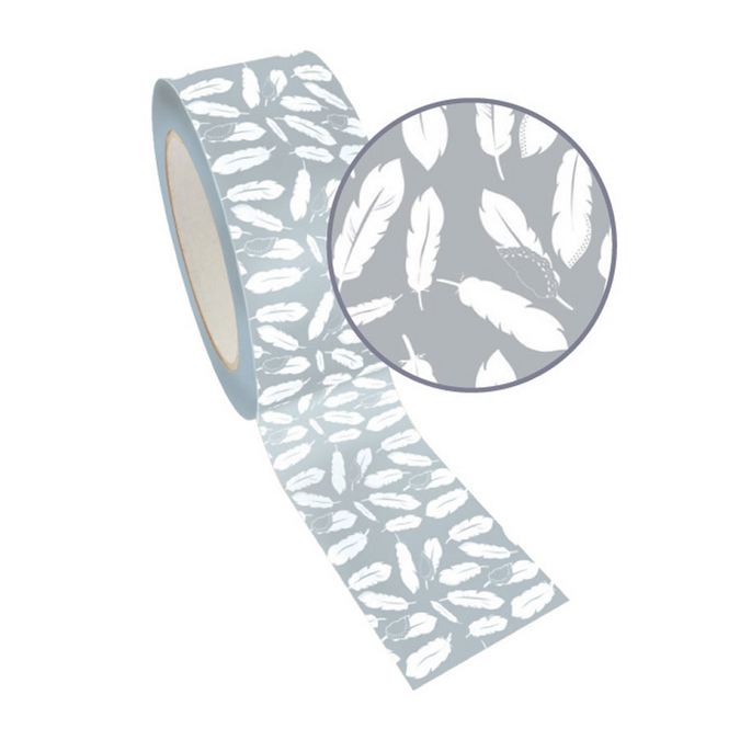 Ruban adhésif décoratif Queen Tape 48 mm x 8 m Plume