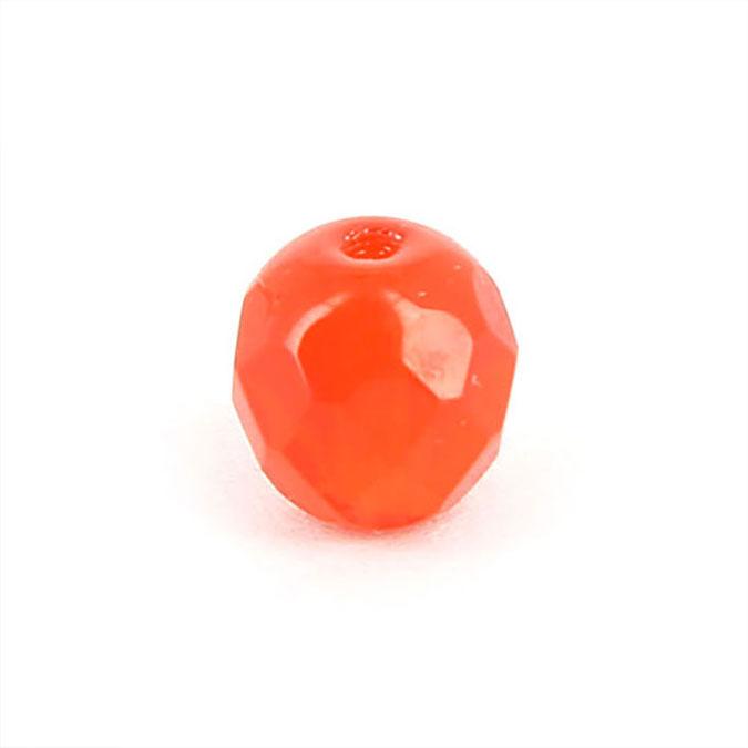 Perle en verre de Bohême ovale à facettes - 8 x 10 mm