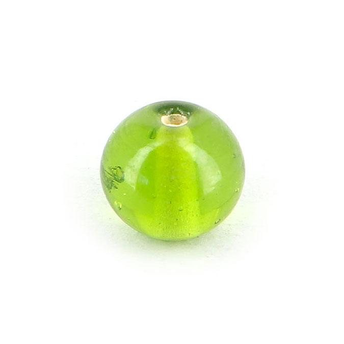 Perle en verre translucide ronde - 10 mm
