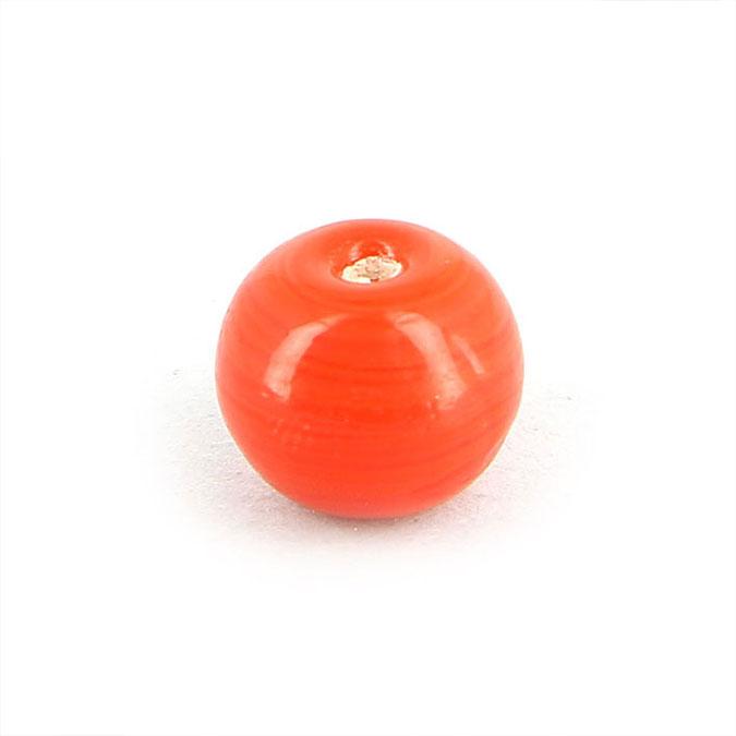 Perle en verre opaque ronde - 10 mm