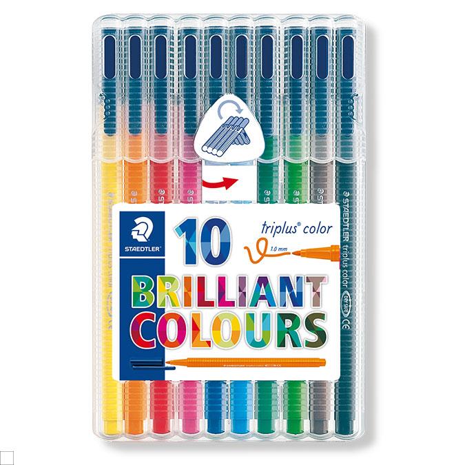Feutre Triplus color étui rigide de 10 couleurs