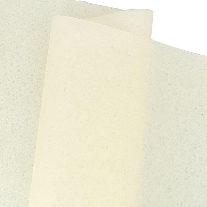 Papier Lokta Goutte d'eau Extra fin 50 x 75 cm Blanc cassé