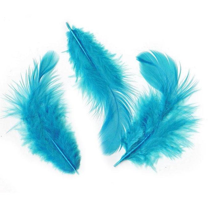 Plumes en sachet 10 g Turquoise