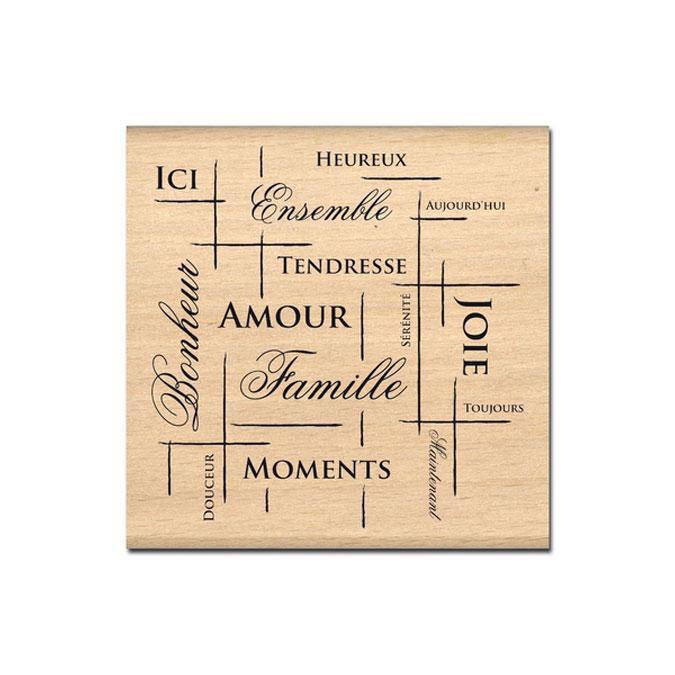 Tampon bois Filet de bonheur 7,2 x 7 cm
