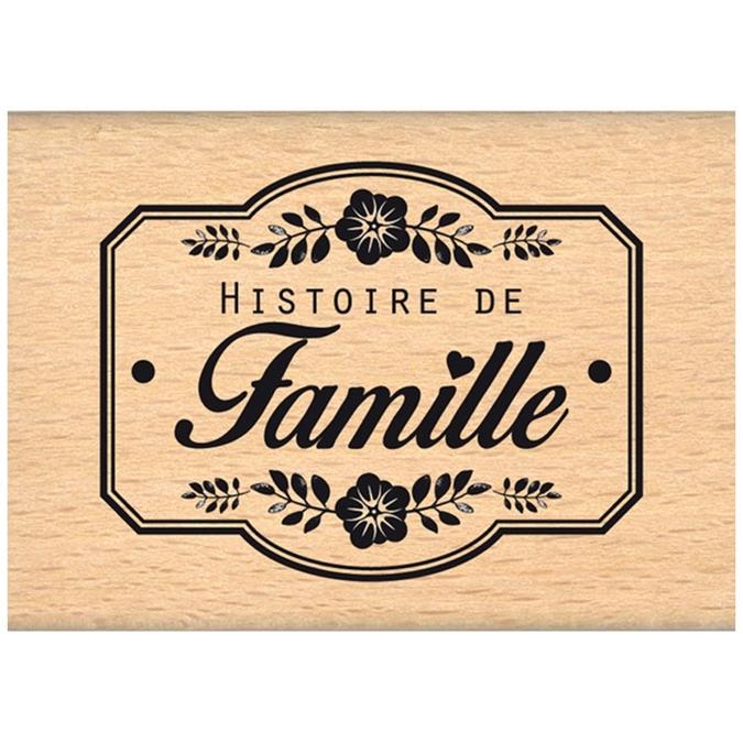 Tampon bois Nos jolis moments Une histoire de famille 5 x 7 cm