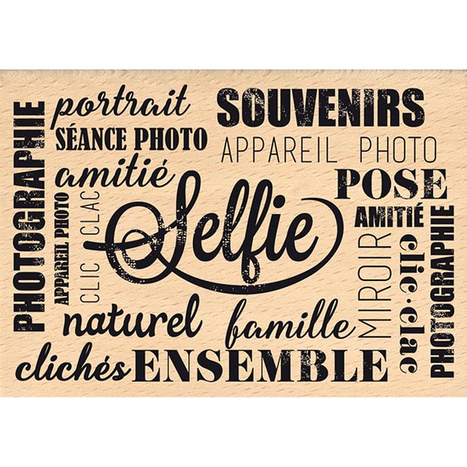 Tampon bois Instant selfie Pose 7 x 10 cm