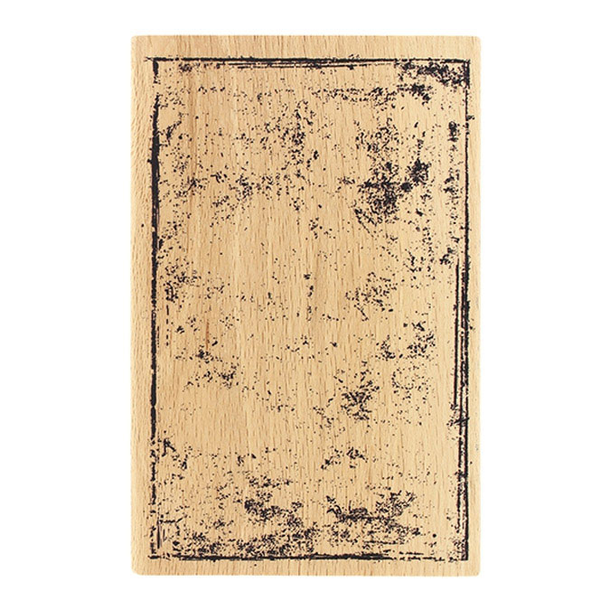 Tampon bois Carte grunge 10 x 15 cm