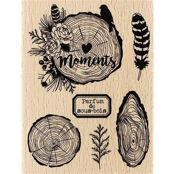 Tampon bois Gypsy forest Parfums de sous-bois 10 x 15 cm