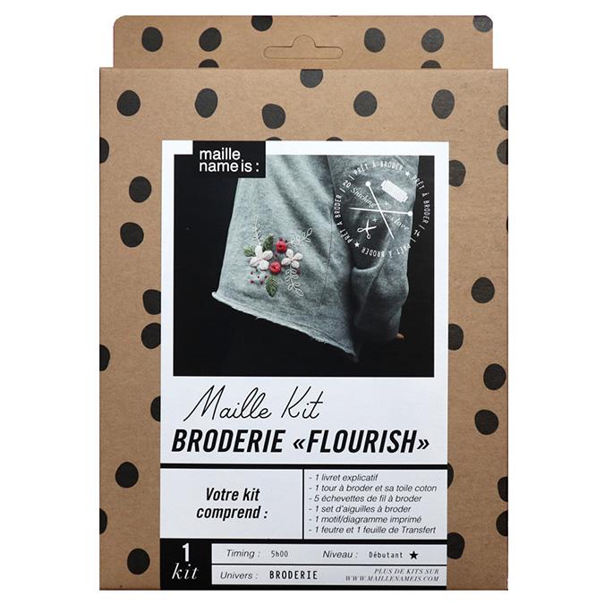 Maille Kit Broderie Flourish