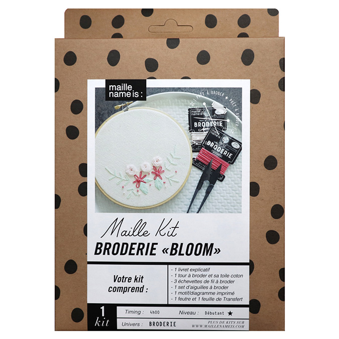 Maille Kit Broderie Bloom