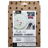 Maille Kit Broderie Flowery