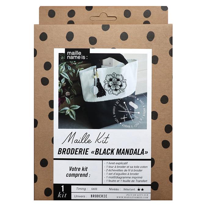 Maille Kit Broderie Black Mandala