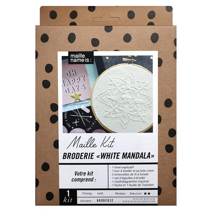 Maille Kit Broderie White Mandala