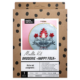 Maille Kit Broderie Happy Folk