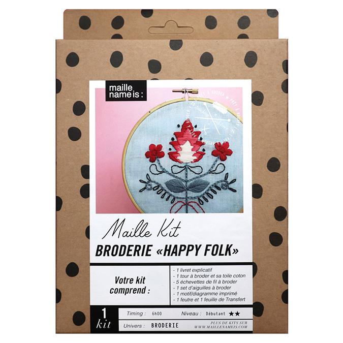 Maille Kit Broderie Happy Folk