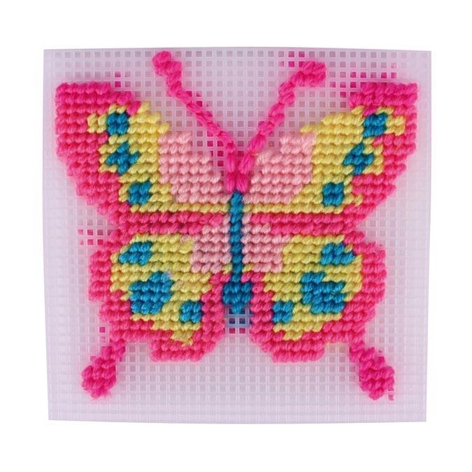 Canevas à broder Papillon