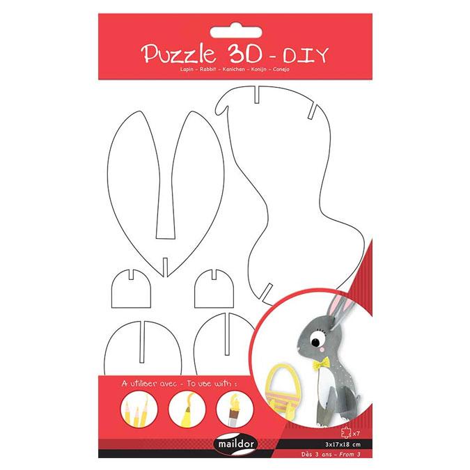 Puzzle 3D Lapin à décorer