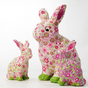 Lapin assis taille 7 x 4,5 x 11,1 cm