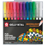 Stylo gel Gelly Roll 12 couleurs Set Moonlight