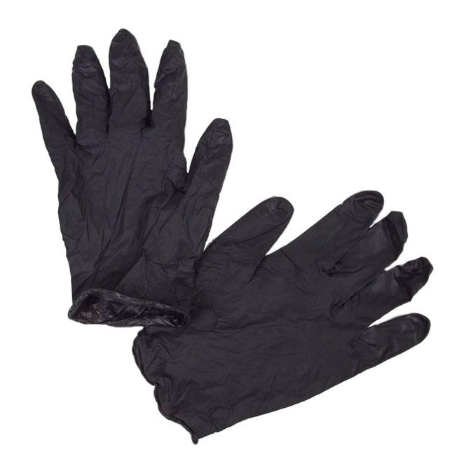 Gants de protection en vinyle Noirs 5 paires