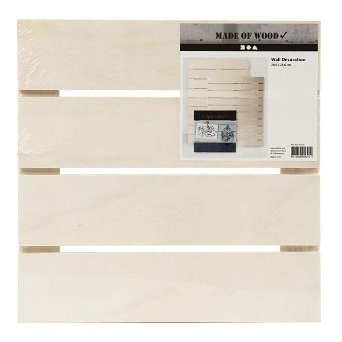 Panneau en bois pour décoration murale 28,6 x 28,6 cm