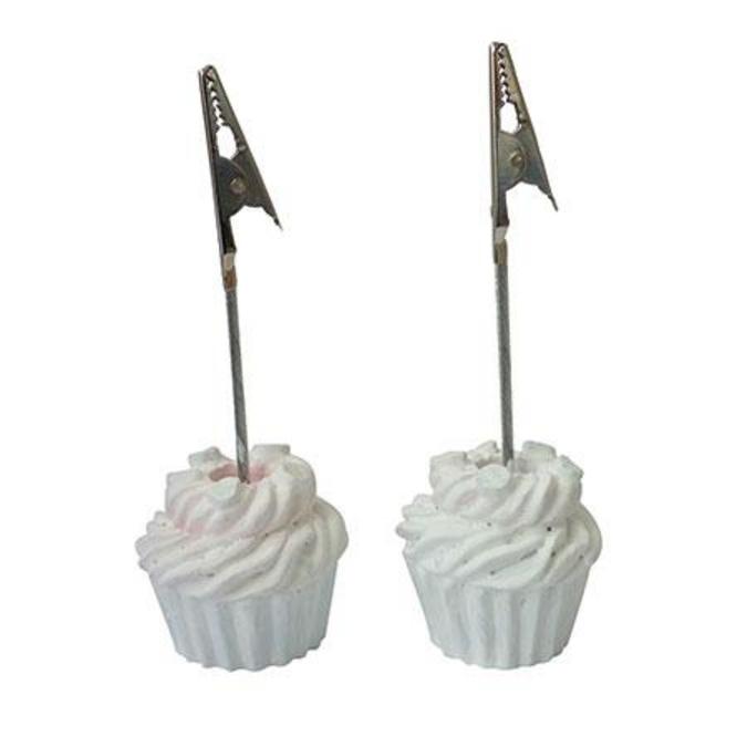 Clip photo en plâtre x 2 - Cupcake