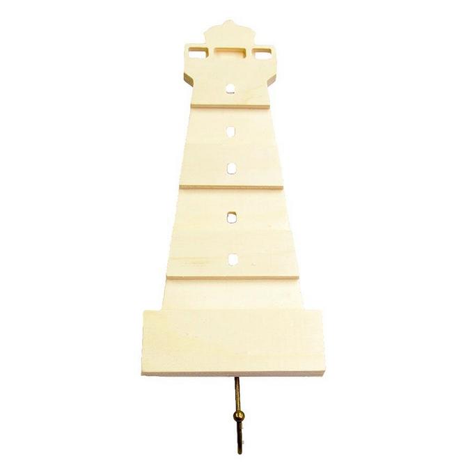 Patère phare en bois - 29 cm