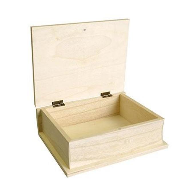 Boîte livre en bois - 21 cm