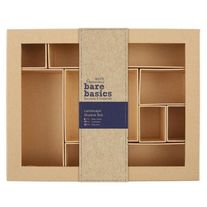 Boîte cadre Shadow Box en carton 28,5 cm